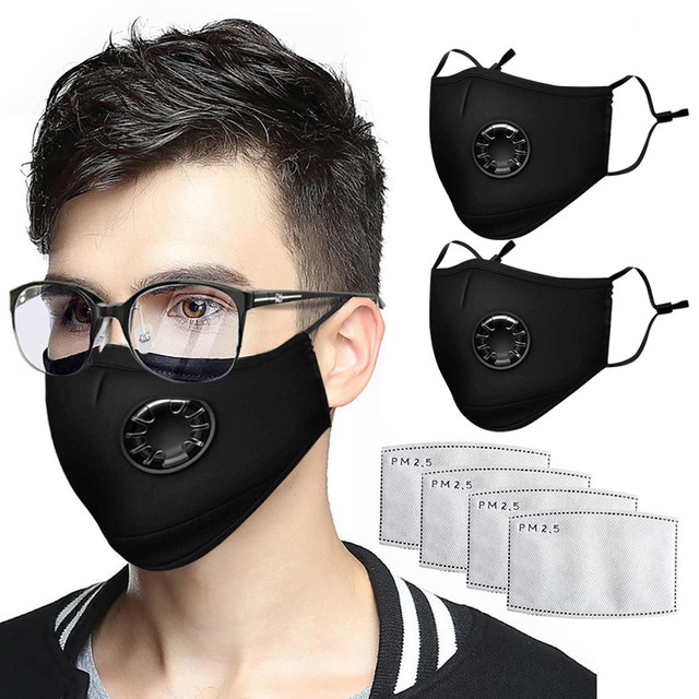 Black Mouth Mask Unisex Cotton Face Masks Anime Mask 3PC Fashion Party Costumes Cosplay Accessories Mascarilla Reutilizable
