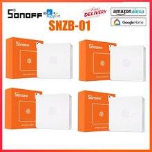 Sonoff zigbee casa inteligente interruptor de luz sem fio um botão três ações trabalhar com zbbridge ewelink app alexa google casa ifttt