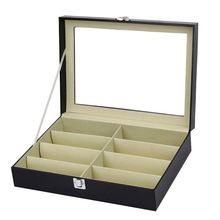 8 Slot Eyeglass Sunglasses Storage Box Men Women Glasses Display Case Organizer Collect Boxes