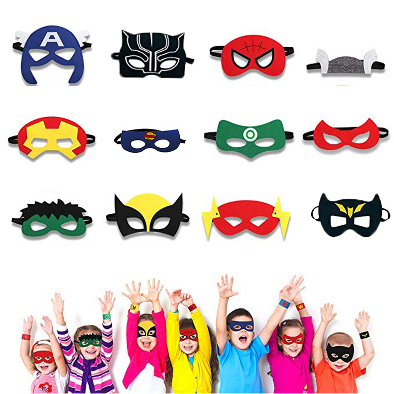 Superhero Mask Cosplay Ninja Turtles Spiderman Hulk IronMan Birthday Gift Halloween Christmas Kids Adult Party Costumes Masks