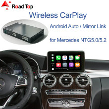 Carplay sem fio para mercedes benz classe c w205 & glc 2015-2018, com funções de jogo de carro espelhamento automático android
