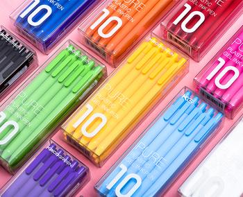 10 sztuk zestaw Kaco kolor długopis 0 5mm Kaco rdzeń trwałe pióro do podpisywania wkład czarny atrament + wkłady Kaco tanie i dobre opinie Długopis żelowy Żel atramentu Biuro i szkoła pen Normalne XM0137 Z tworzywa sztucznego