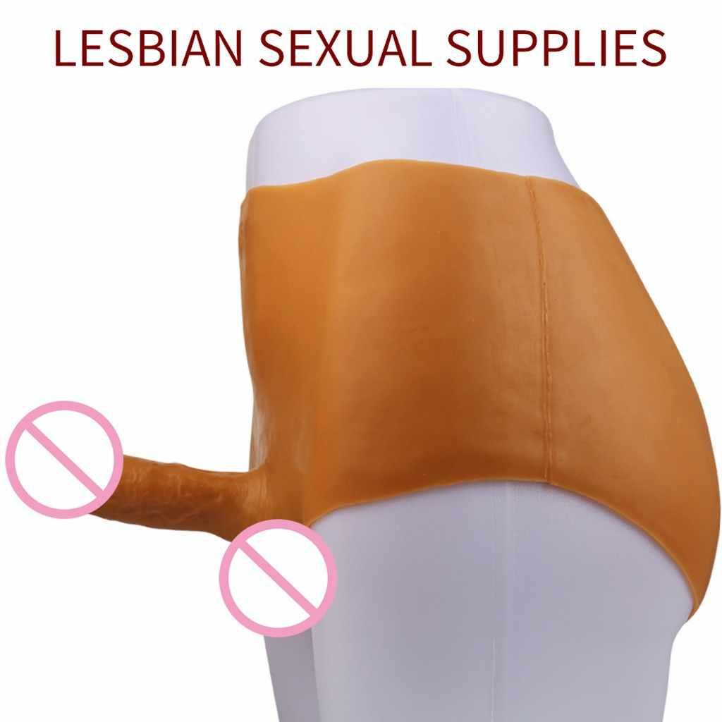 JIUAI dildo realistische silica gel dildo höschen Tragen Penis Feste Körper Hosen Für Frauen Sex Spielzeug Penis Tragen Silikon Hosen g0930 #35
