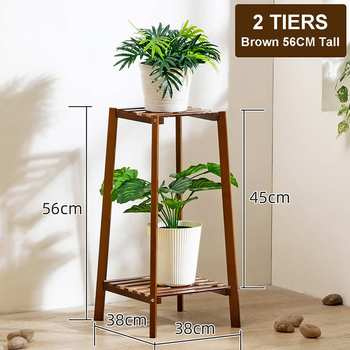 4 Layers Simplicity Wood Stand For Plants Landing Type Light Extravagant Multi-storey Shelf Indoor Flowerpot Frame Flower Stand 9