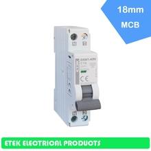 цена на MCB EKM1-40N 1P+N   C type 230/240V~ 50HZ/60HZ  Mini Circuit breaker 6A  10A  16A 20A 25A 32A 40A