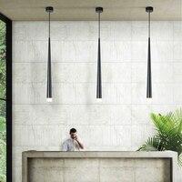 led hanging pendant Nordic long tube restaurant bar tapered black white pendant lamp for decorative pendant lamp bedside pendant