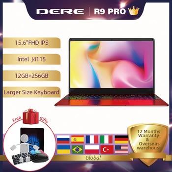 Dere R9 PRO 15.6 inch Laptop 12GB RAM 256GB ROM SSD Notebook Wndows 10 pro Laptop Intel Gemini lake J4115 Computer PC Portable