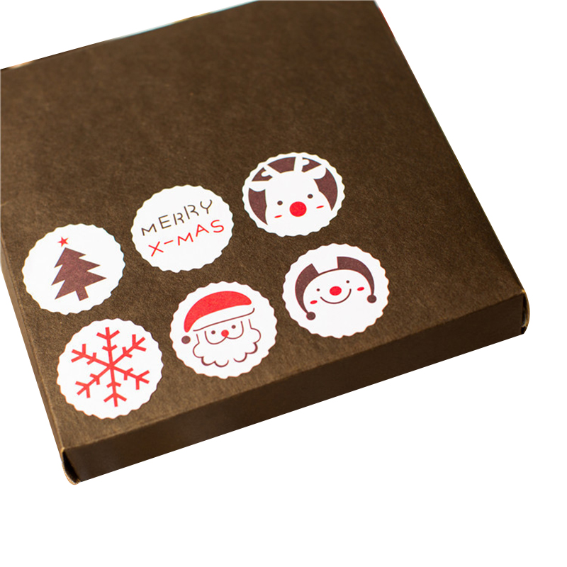 Merry Christmas <font><b>Stickers</b></font> Party Decoration Round Label <font><b>Stickers</b></font> - 3cm - <font><b>120pcs</b></font> <font><b>Stickers</b></font> image