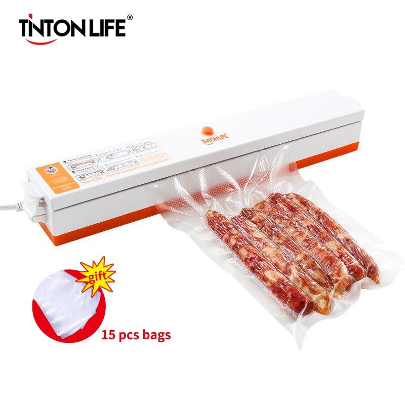 Vacuum Sealer Packaging Machine 220V/110V Household Food Vacuum Sealer Film Sealer Vacuum Packer Including 15Pcs Bags vacuum packer sealer vacuumvacuum sealer packaging machine - AliExpress