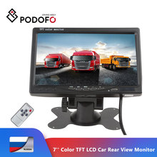Podofo 7 Color TFT LCD Monitor Car Rear View Monitor Rearview Display Screen for Vehicle Backup Camera Parking Assist System