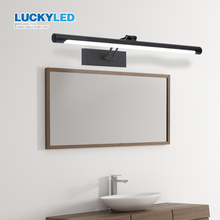 LUCKYLED Lámpara Led de pared, 8W, 12W, luz para espejo de baño, resistente al agua, para tocador, 85 265V CA, lámpara de aplique montada en la pared