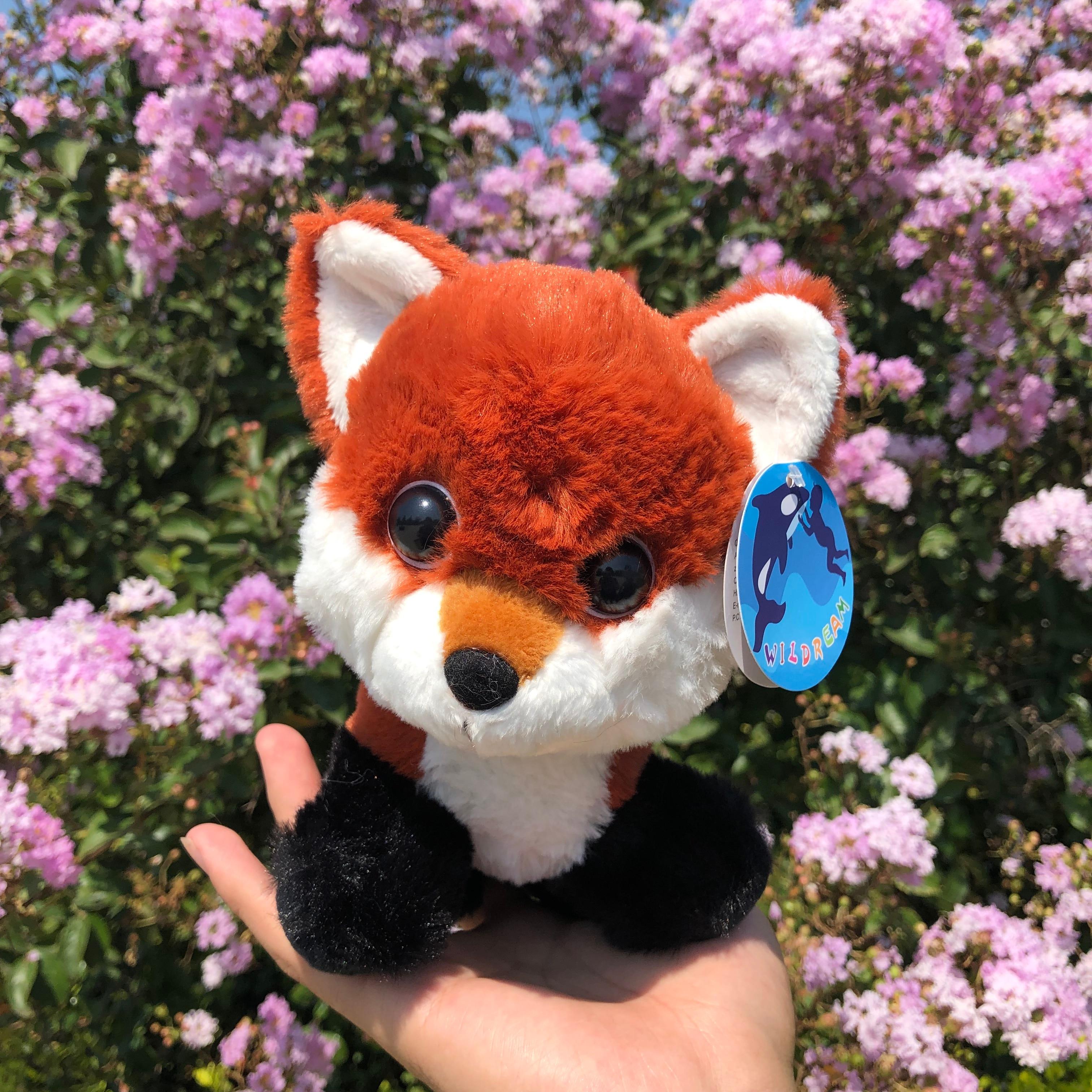 18cm New Arrive Lovely Stuffed Plush Long Tail Fox Toys Dolls Kawaii Plush Toy Children Friends Gifts(China)