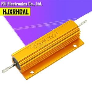 Image 2 - 50W 100W Aluminum Power Metal Shell Case Wirewound Resistor 0.01R ~ 100K 1 6 8 10 20 200 500 1K 10K ohm resistance RX24 Igmopnrq
