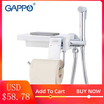 GAPPO bidet faucets toilet Bidet shower sprayer hygienic shower anal plug  water taps bathroom paper holder shelf holders G7296 - DISCOUNT ITEM  51% OFF All Category