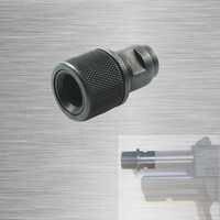 Adaptador roscado de extremo de barril M8x. 75 a 1/2-28 1/2-20 adaptador con Protector de rosca 1/2x28 1/2x20 Walther negro P22 S & W M & P22