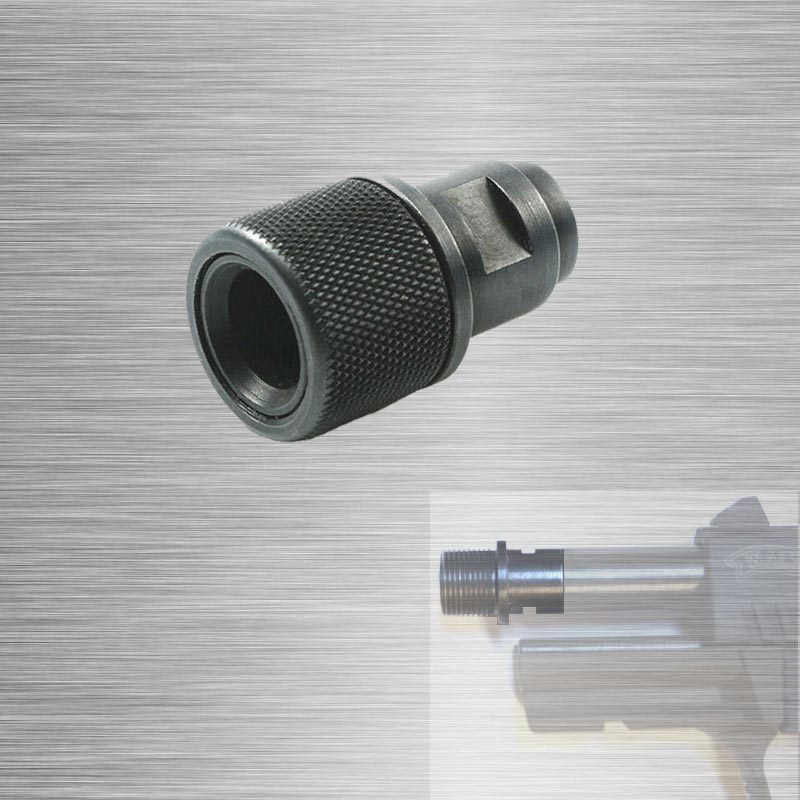 Barrel End Threaded Adapter M8x.75 To 1/2-28  1/2-20 Adapter With Thread Protector 1/2x28  1/2x20 Walther Black P22 S&W M&P22