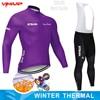 Inverno velo térmico 2020 strava ciclismo jérsei longo conjunto mtb roupas de ciclo roupas esportivas mountain bike ropa ciclismo 24