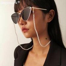 2021 perlas de moda cadena para gafas de lectura para las mujeres Slip gafas de sol de Metal cordones casuales con cuentas cadena para anteojos gafas Accesorios