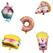 Balloon Baby Birthday-Party Shower Party-Decoration Pizza-Hot Donut-Burger Popcorn Opening