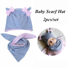 Hat Scarf-Set Matching Baby Kids Winter Children Cotton for Autumn 5-Style Knot Butterfly