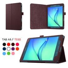 Для P550 SM-T550 SM-T555 SM-P550 чехол для планшета откидной держатель подставка кожаный чехол для Samsung Galaxy Tab 9,7 дюймов T550 T555