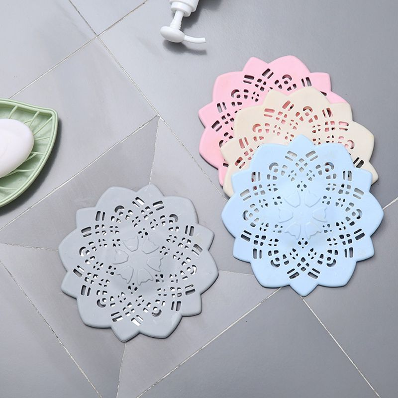 2pcs Flower Hair Catcher Bath Drain Bathroom Shower Strainer Kitchen Sink Cover