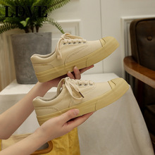 New Spring Autumn Unisex Casual Flats Shoes Woman Walking Canvas Sneakers Female