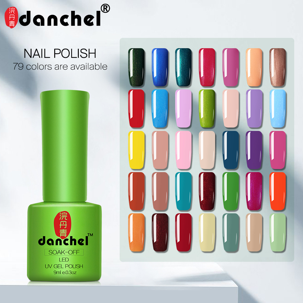 Danchel  43-79 Color 9ml Gel Varnish Nails Art Vernis UV LED Primer Semi Permanent LED Soak-Off Gel Lacquer Gel Nail Polish