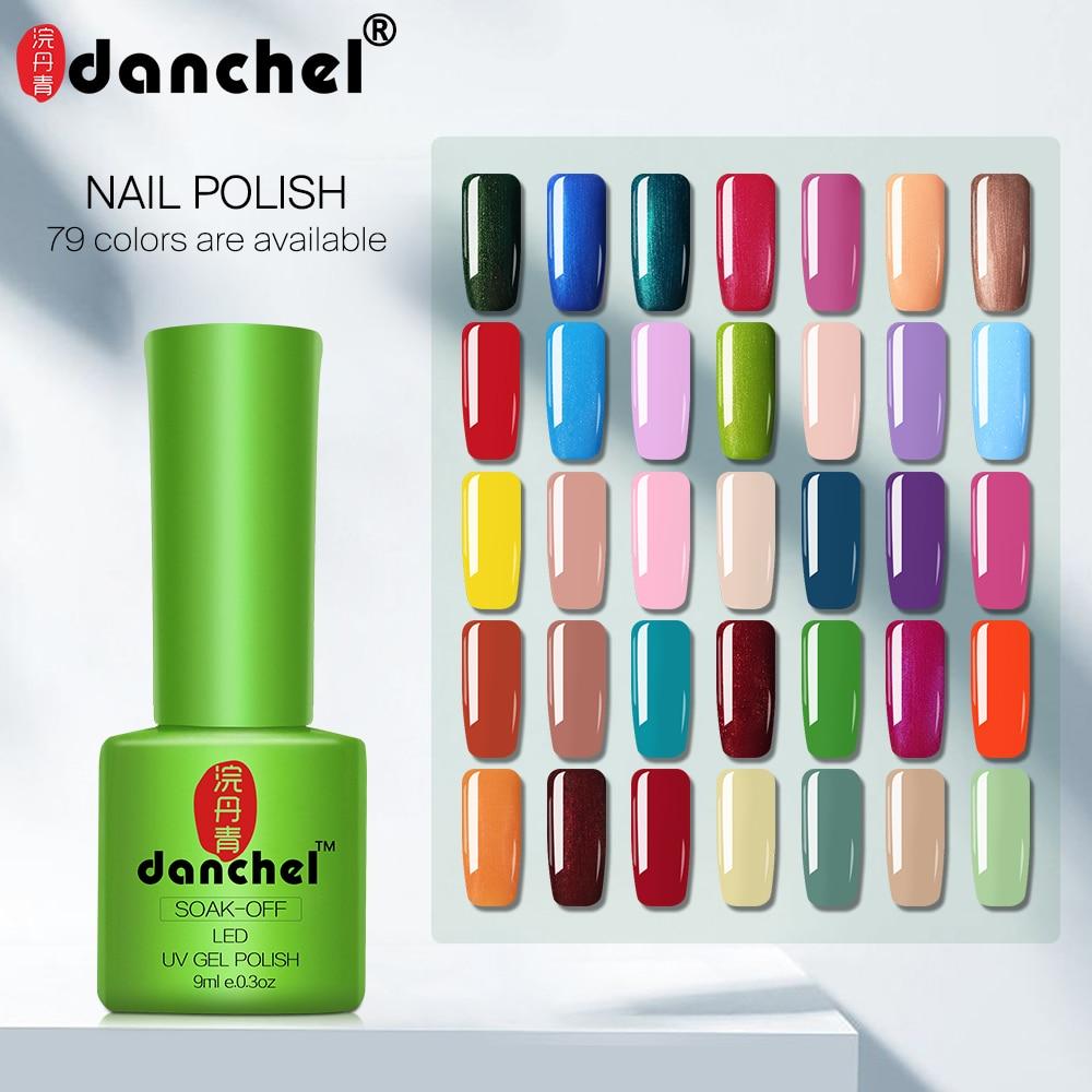 Danchel  43-79 Color 9ml Gel Varnish Nails Art Vernis UV LED Primer Semi Permanent LED Soak-Off Gel Lacquer Gel Nail Polish
