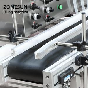Image 4 - ZONESUN 4 Nozzles Magnetic Pump Automatic Desktop Liquid Water Drink Filler Conveyor Filling Machine Bottle Water Making Machine