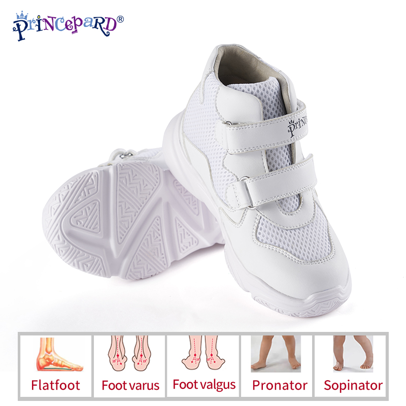 2019 New Orthopedic Shoes For Kids Princepard Children Autumn Sports Shoes Navy White Add Orthopedic Insoles