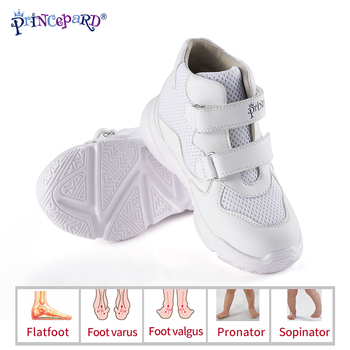 New Orthopedic Shoes for Kids Princepard Children Autumn Sports Sneaker Navy White add Insoles
