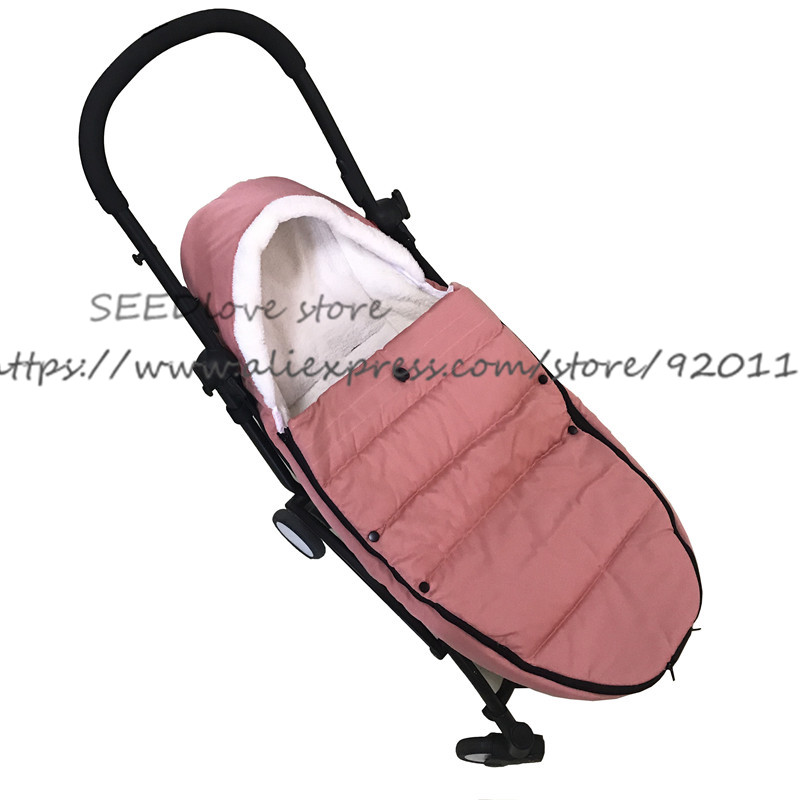 Image 2 - Baby Stroller Sleeping Bag Winter Slaapzak Warm Cover Foot Muff Envelop Babyzen Yoyo Yoya Pram Pushchair Stroller Accessorie-in Strollers Accessories from Mother & Kids