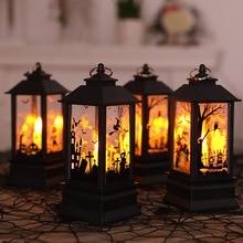 2019 Halloween Vintage Castillo de calabaza lámpara de Luz Decoración para colgar en fiestas LED linterna suministros de fiesta linterna colgante