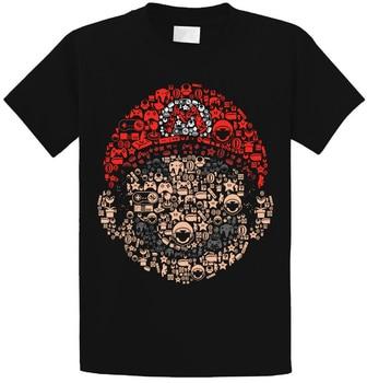 Super Mario Bros Mashup T Shirt Top Mushroom Kingdom Luigi Nintendo Geek Italian Simple Splicing Tee Tops