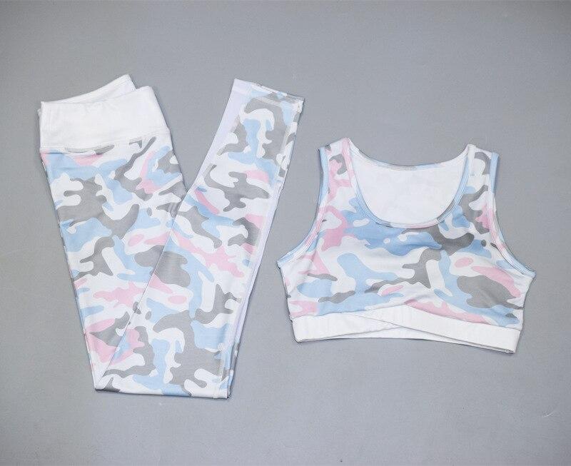 Европейский и американский, EBay,, осенний стиль, женское платье, камуфляжный принт, спортивный комплект для йоги