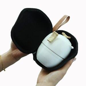 Image 4 - Kungfú chino juego de té de porcelana blanca, tetera de cerámica, olla de rayo mate, taza de té japonesa para el hogar, portátil, para viajes al aire libre, Gaiwan