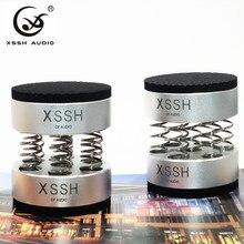 4 قطعة/8 قطعة ترقية XSSH صوتي صدمة المسامير الربيع التخميد وسادة HIFI الوقوف قدم المتكلم سبايك الصوت CD مكبر للصوت وسادة للقدم