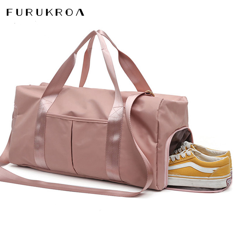 Large Fitness Sport Bag Women Waterproof Nylon Gym Sports Bag Yoga Training Travel Bag Shoes Dry Wet Tas Men Luggage Bag XA635WB
