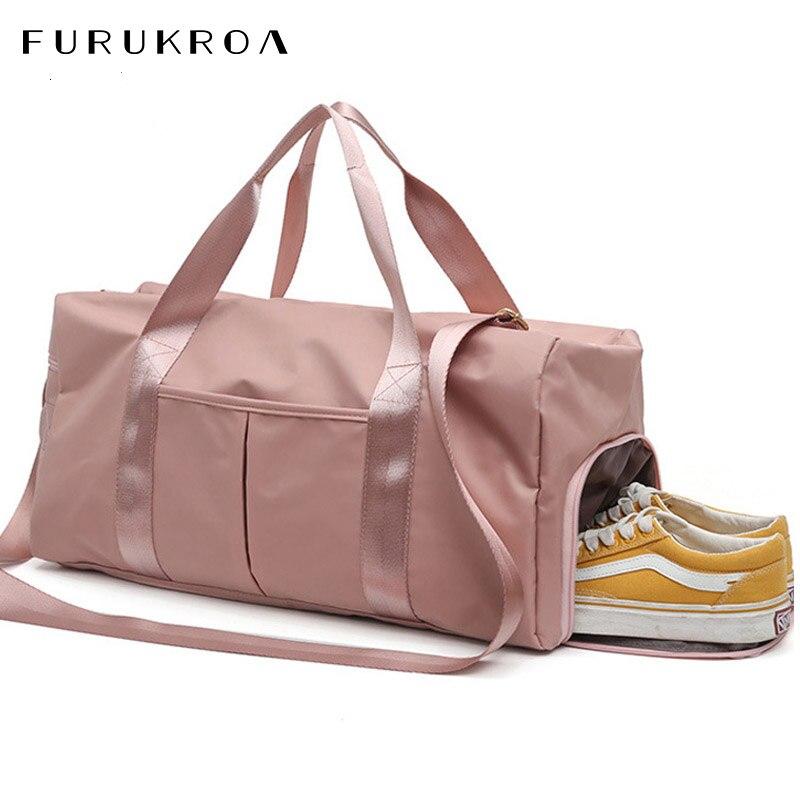 Large Fitness Sport Bag Women Waterproof Nylon Gym Sports Bag Yoga Training Travel Bag Shoes Dry Wet Tas Men Luggage Bag XA635WB