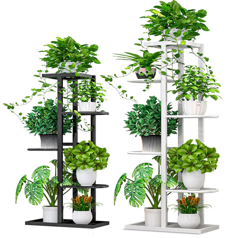 Multi-storey Indoor Household Balcony Decorate Iron Art Of Shelf A Living Room Province Space Flowerpot Landing Type Green Luo
