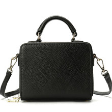 purses and handbags Fashion Box Structured Genuine Leather Ladies Bags Handbag Women y Shoulder Bag