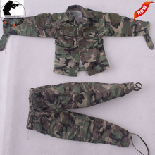 73005 1/6 Scales Male Accessories Clothes Woodland Battle Su