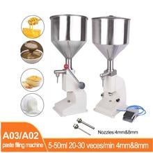 A02/a03 pasta pneumática máquina de enchimento 5-50ml de enchimento quantitativo pasta líquida creme dental mel cosméticos