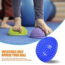 Прочные мячи для йоги, портативный тонкий дизайн, надувной мяч для йоги, упражнение, оборудование для фитнеса, тренировочный мяч для тренажерного зала