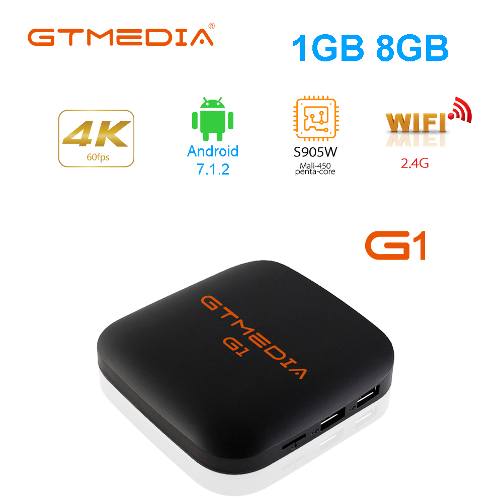 Android TV Box 1GB RAM 8GB ROM 4K Media Player Support 64Bit Quad-core Built-in