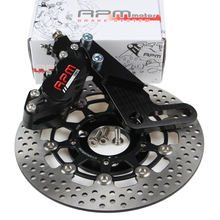 Rpm Motorcycle Hydraulic Brake Caliper Disc System Set HF6 220mm/260mm Floating Disc For Honda Yamaha rpm brand cnc brake caliper 220mm disc brake pump adapter bracket sets for yamaha electric motorcycle scooter bws zuma aerox rsz