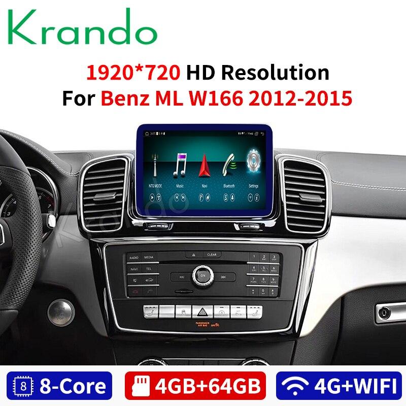 Krando Android 10.0 9 ''pour mercedes-benz ML/GL 2012-2015 autoradio gps navigation lecteur multimédia système