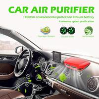 VODOOL 12V Car Air Purifier Touch USB Rechargeable 4 Layer Filter PM2.5 Smoke Odor Eliminator Air Cleaner with HEPA Filter