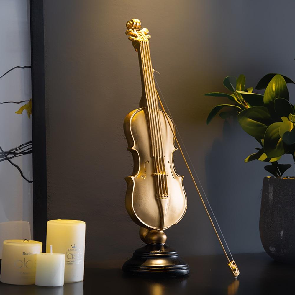Vintage Home Decor Desk Decoration Violin Musical Instrument Miniature Figurines Living Room Home Decoration Accessories Resin Figurines Miniatures Aliexpress